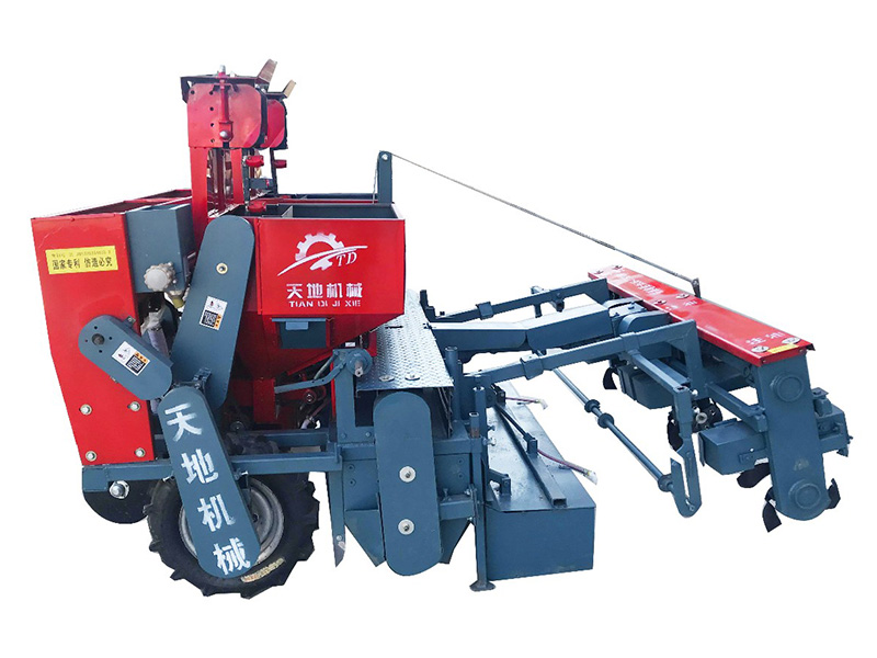马铃薯起垄种植图片_2CM-2A型马铃薯种植机